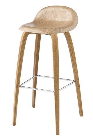 Gubi barstool wooden frame