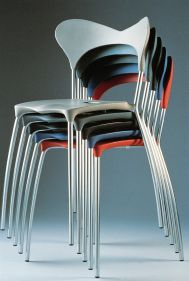 Zao chairs, stacked
