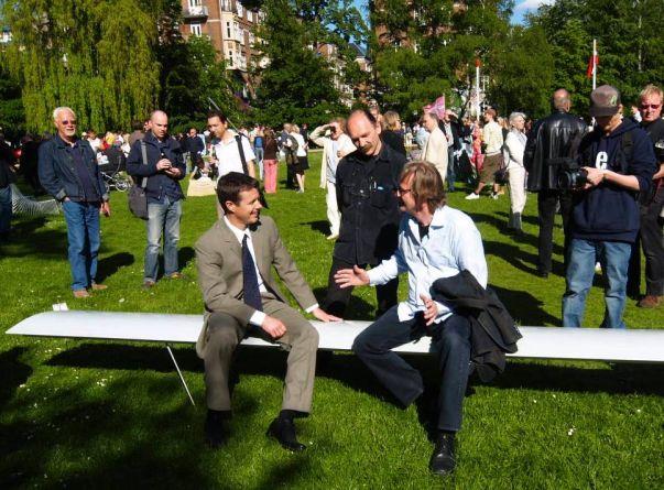 Opening ceremony in Frederiksberg Garden