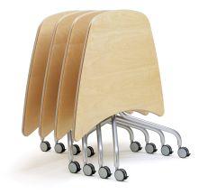 Viva flip-top table in stack