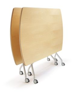 Viva table folded, stacked