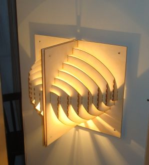 Laser cut wall-lamp 2/4
