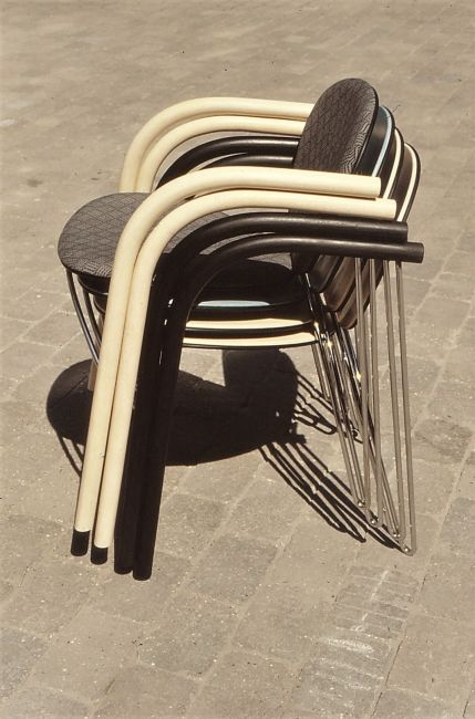 Joy chairs stacked